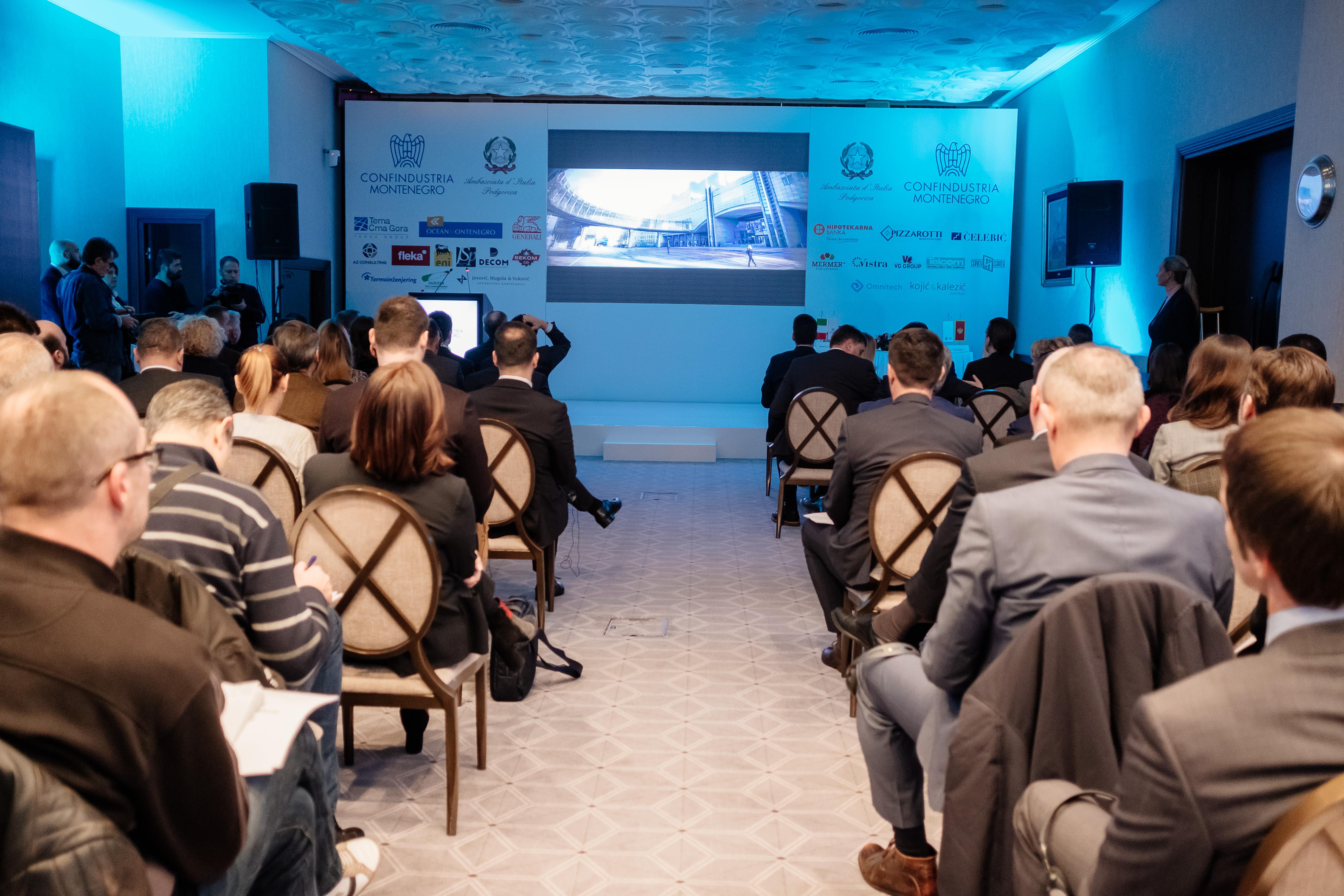 Evento presentazione Confindustria Montenegro, dicembre 2018.
