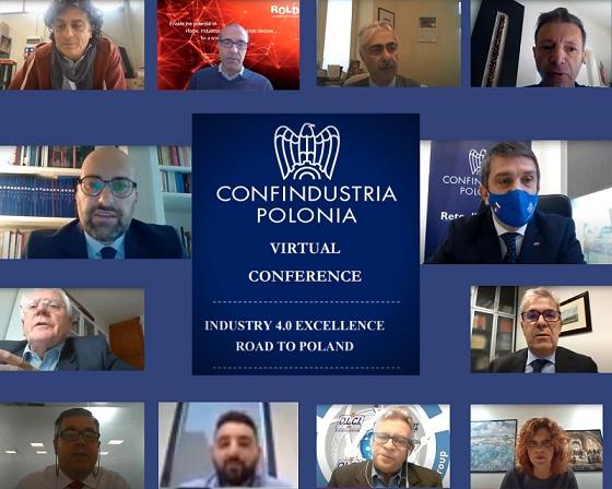 """Conferenza virtuale di Confindustria Polonia """"Industry 4.0 Excellence - road to Poland"""", novembre 2020."""