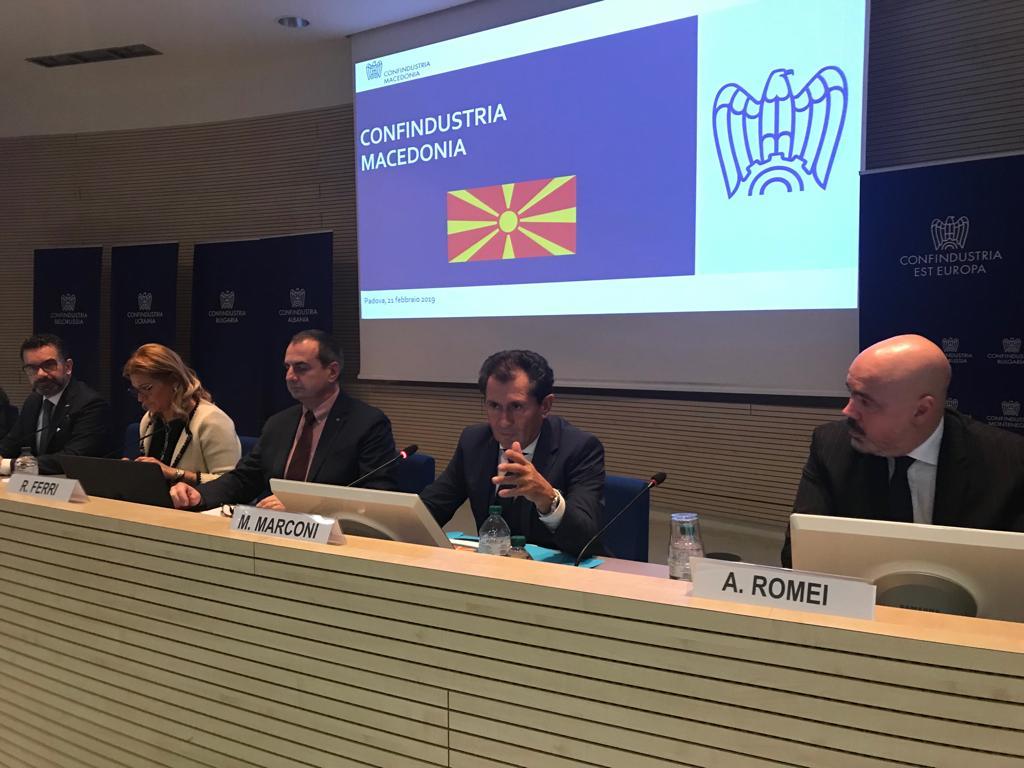Roadshow di Confindustria Est Europa a Padova. Febbraio 2019.